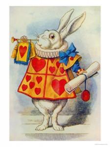 coniglio bianco illustrazione tenniel