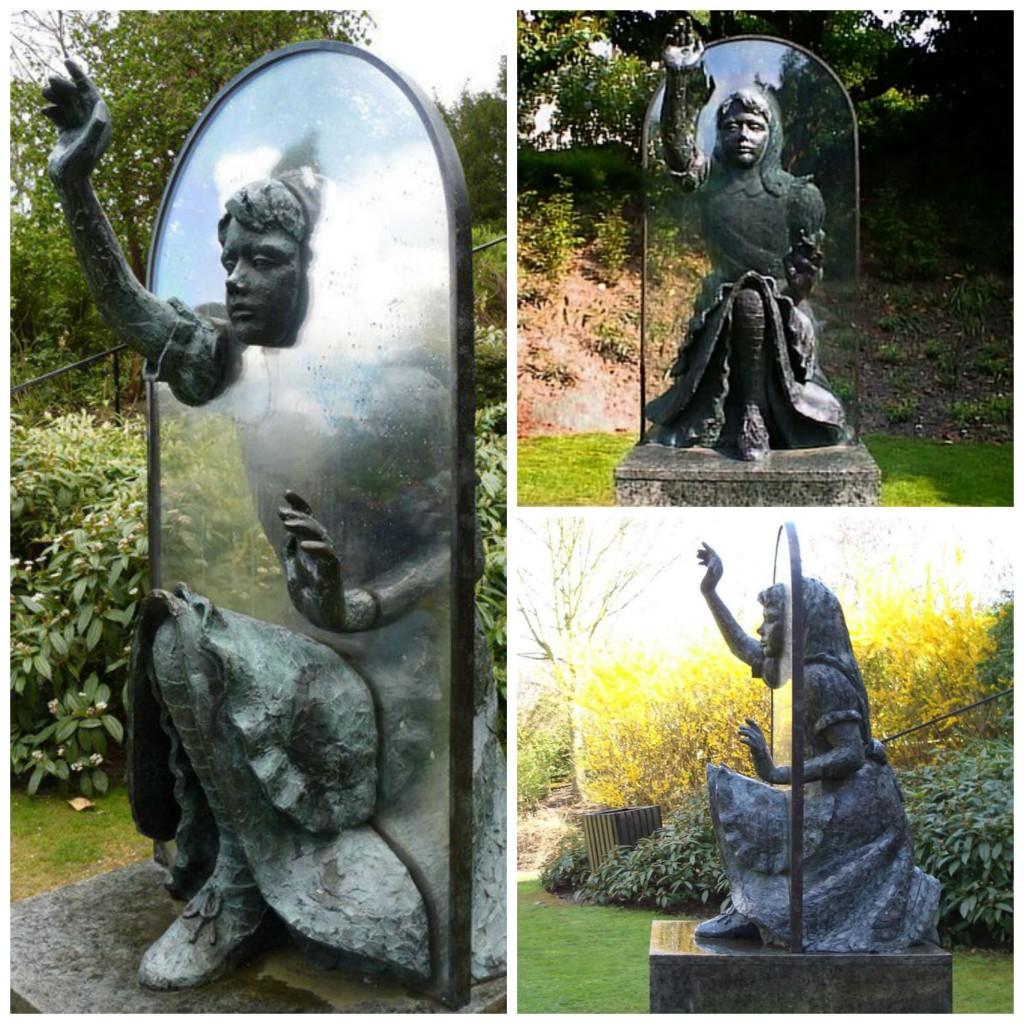 scultura specchio