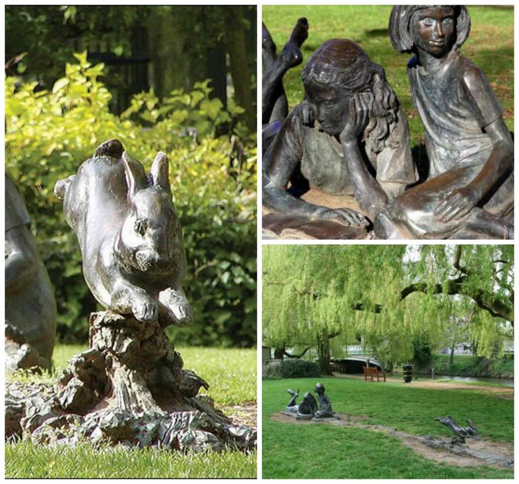 scultura bianconiglio